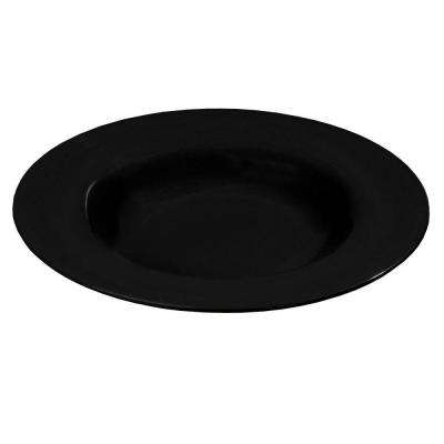 20 oz., 12.02 in. Diameter Melamine Chef Salad/Pasta/Soup Bowl in Black (Case of 12)