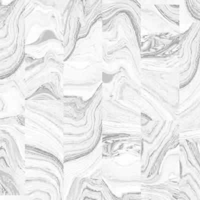 Grey and White Agate Tile Wallpaper