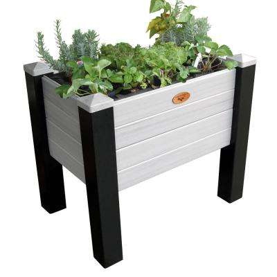 24 in. x 36 in. x 32 in. Maintenance Free Black and Gray Elevated Garden Bed