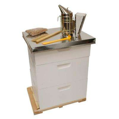 20.5 in. x 26 in. x 30 in. Backyard Beekeeping Kit with 2 Deep Supers and tools