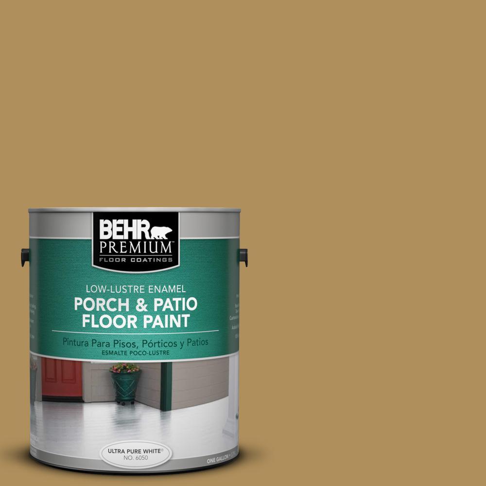 1 gal. #S310-5 Brazilian Citrine Low-Lustre Porch and Patio Floor Paint