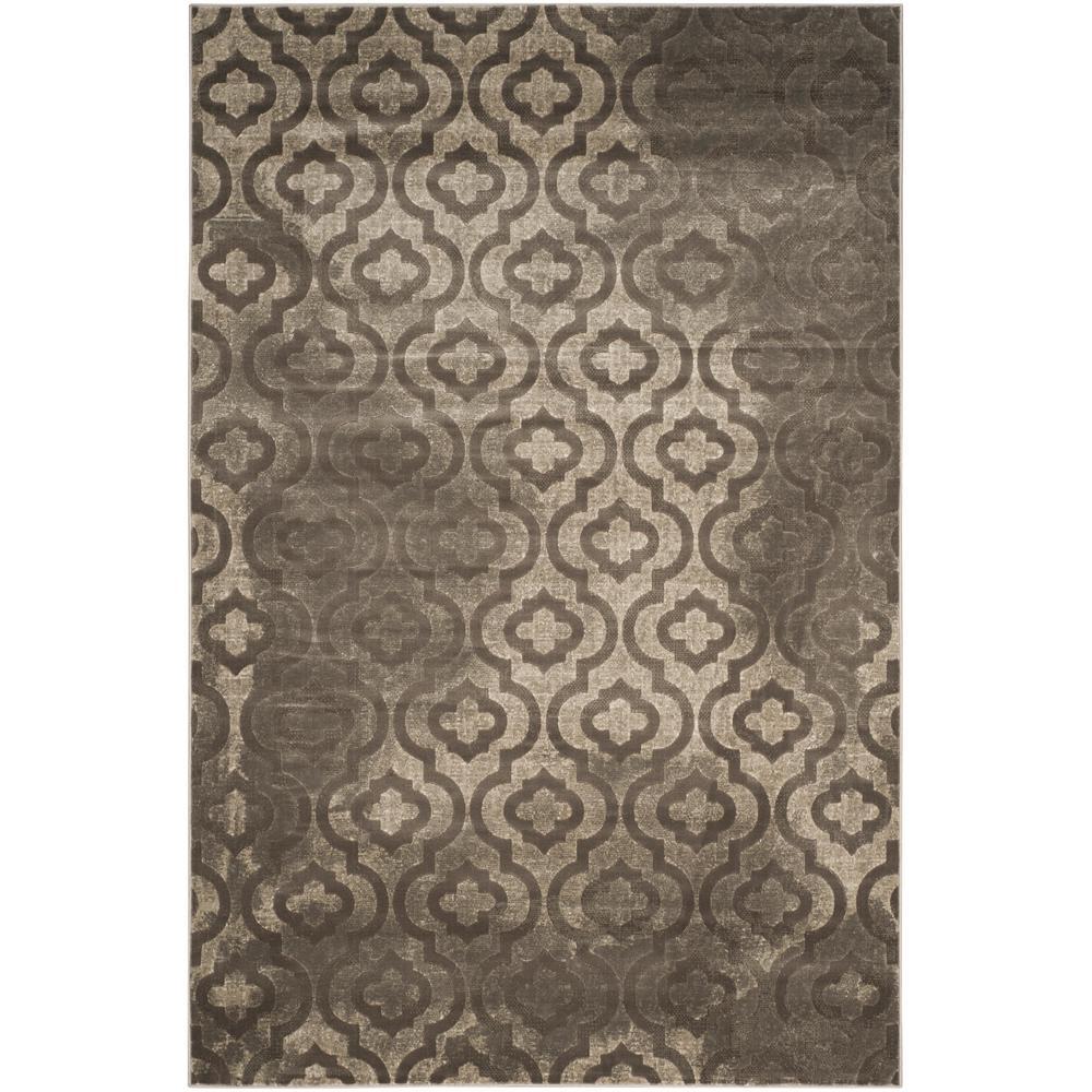 Porcello Gray/Dark Gray 6 ft. x 9 ft. Area Rug