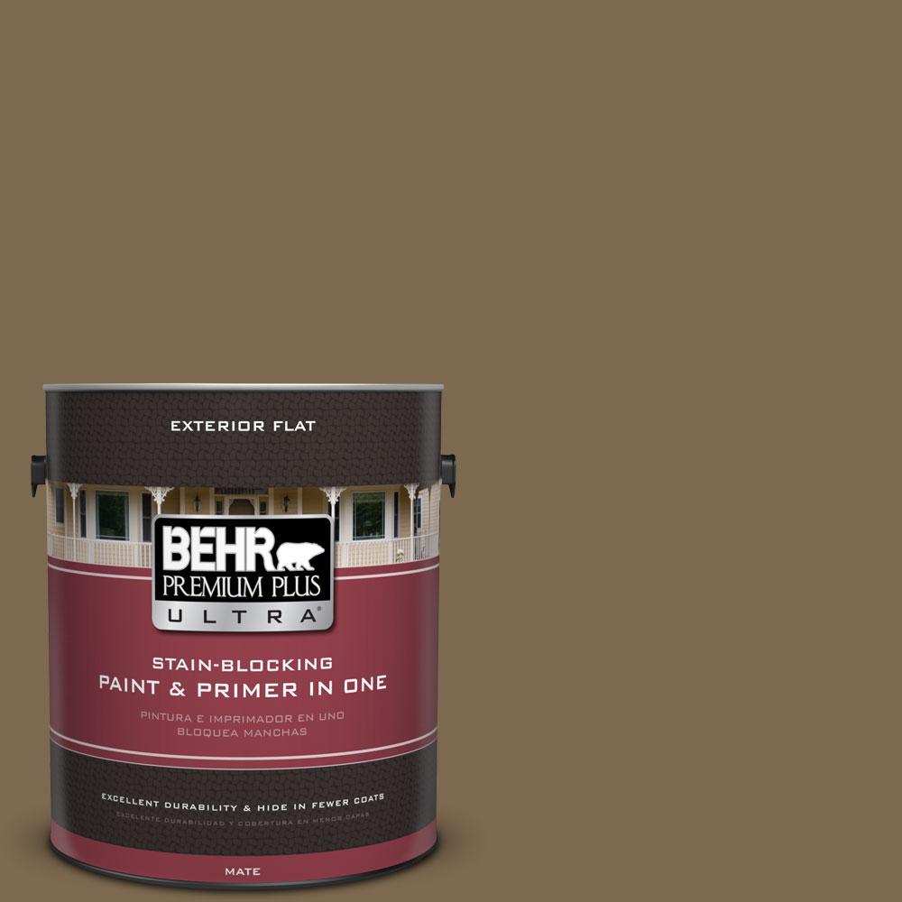 BEHR Premium Plus Ultra 1-gal. #N300-7 Mayan Ruins Flat Exterior Paint