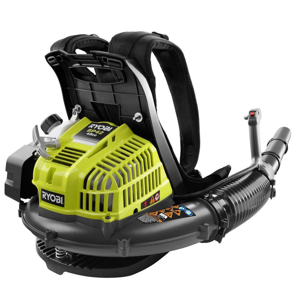 Ryobi 185 Mph 510 Cfm Gas Backpack Leaf Blower Ry08420a The Home Depot