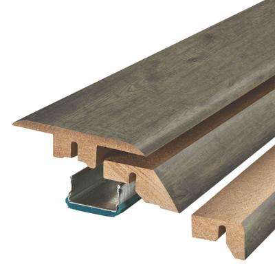 Ventura Pewter Hickory 3/4 in. Thick x 2-1/8 in. Wide x 78-3/4 in. Length Laminate 4-in-1 Molding