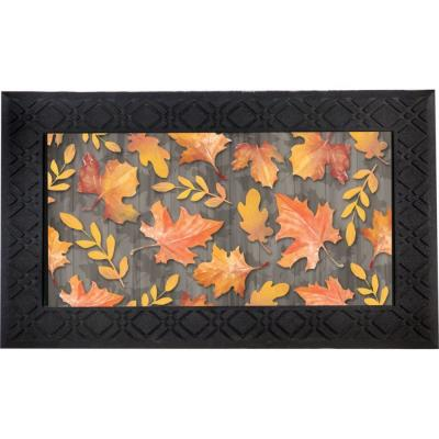 Autumn Leaves 30 in. x 18 in. LED Music Rubber Floor Mat