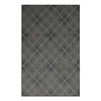 Russell Plaid Charcoal 8 ft. x 10 ft. Area Rug