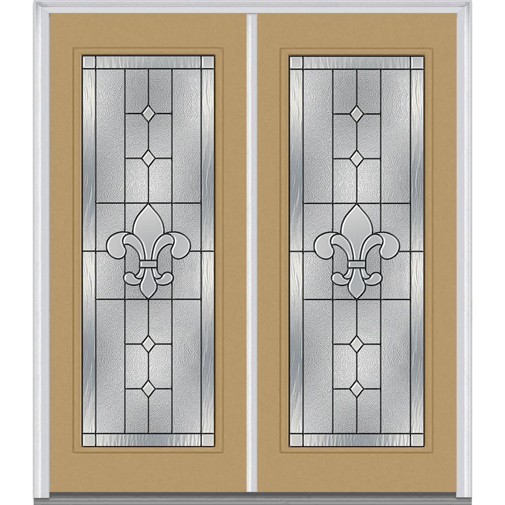 carrollton decorative glass full lite painted fiberglass smooth exterior