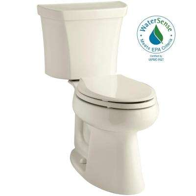 Highline 2-Piece 1.0 GPF Single Flush Elongated Toilet in Almond
