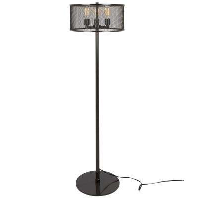 Indy Mesh 61 in. Antique Floor Lamp