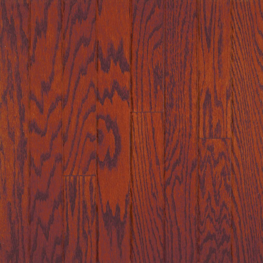 Millstead Oak Bordeaux 3/8 in. Thick x 4-1/4 in. Wide x Random Length Engineered Click Wood Flooring (20 sq. ft. / case)
