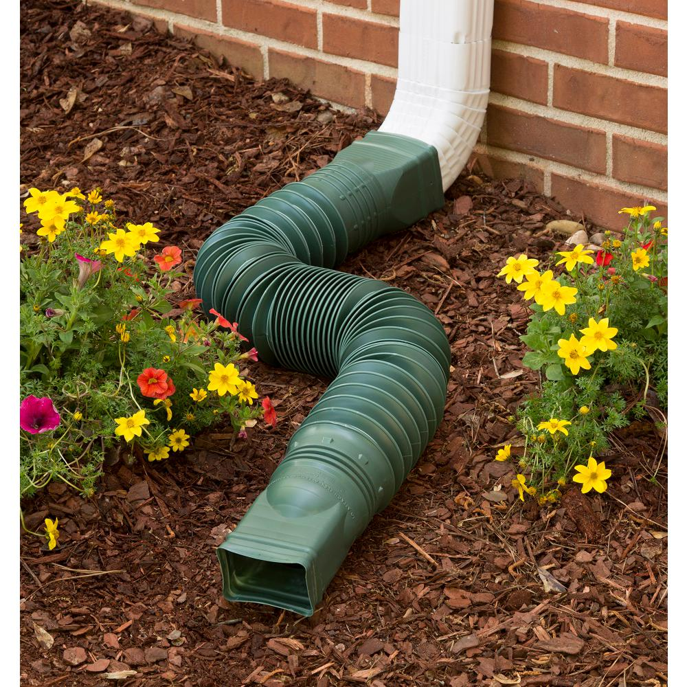Flex A Spout Green Downspout Extension 85011 The Home Depot