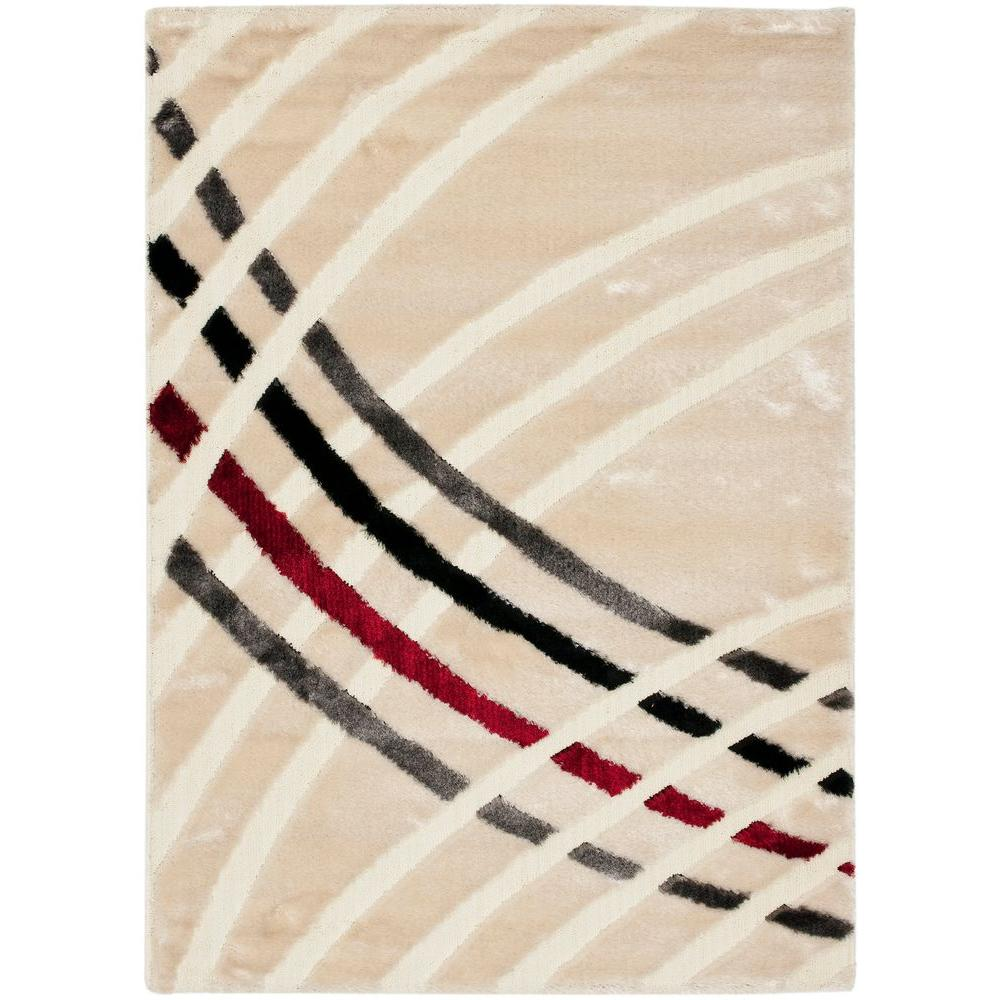 Safavieh Miami Shag Beige/Multi 8 ft. x 10 ft. Area Rug