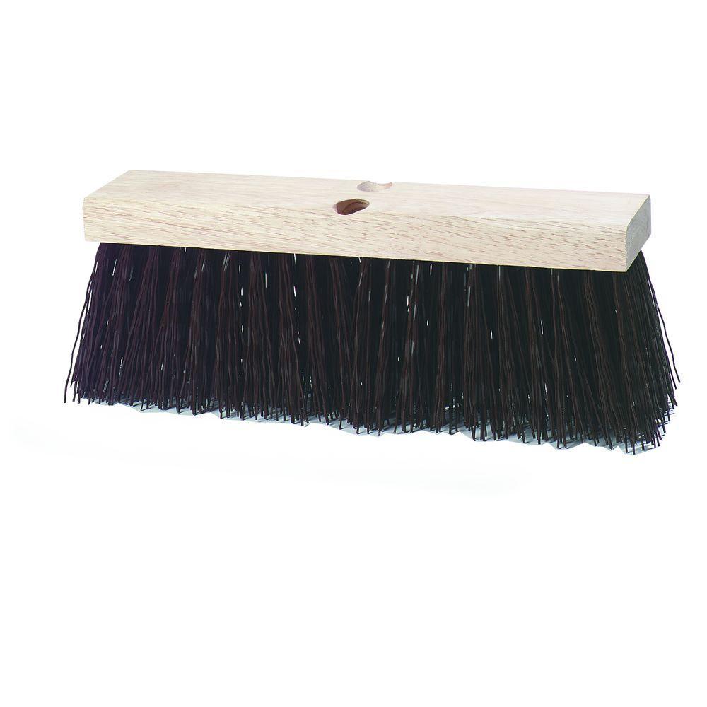 16 in. Polypropylene Bristled Heavy Street Sweep Broom in Brown (12-Case)