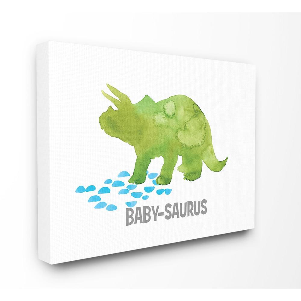 stupell industries 16 in x 20 in baby saurus triceratops dinosaur