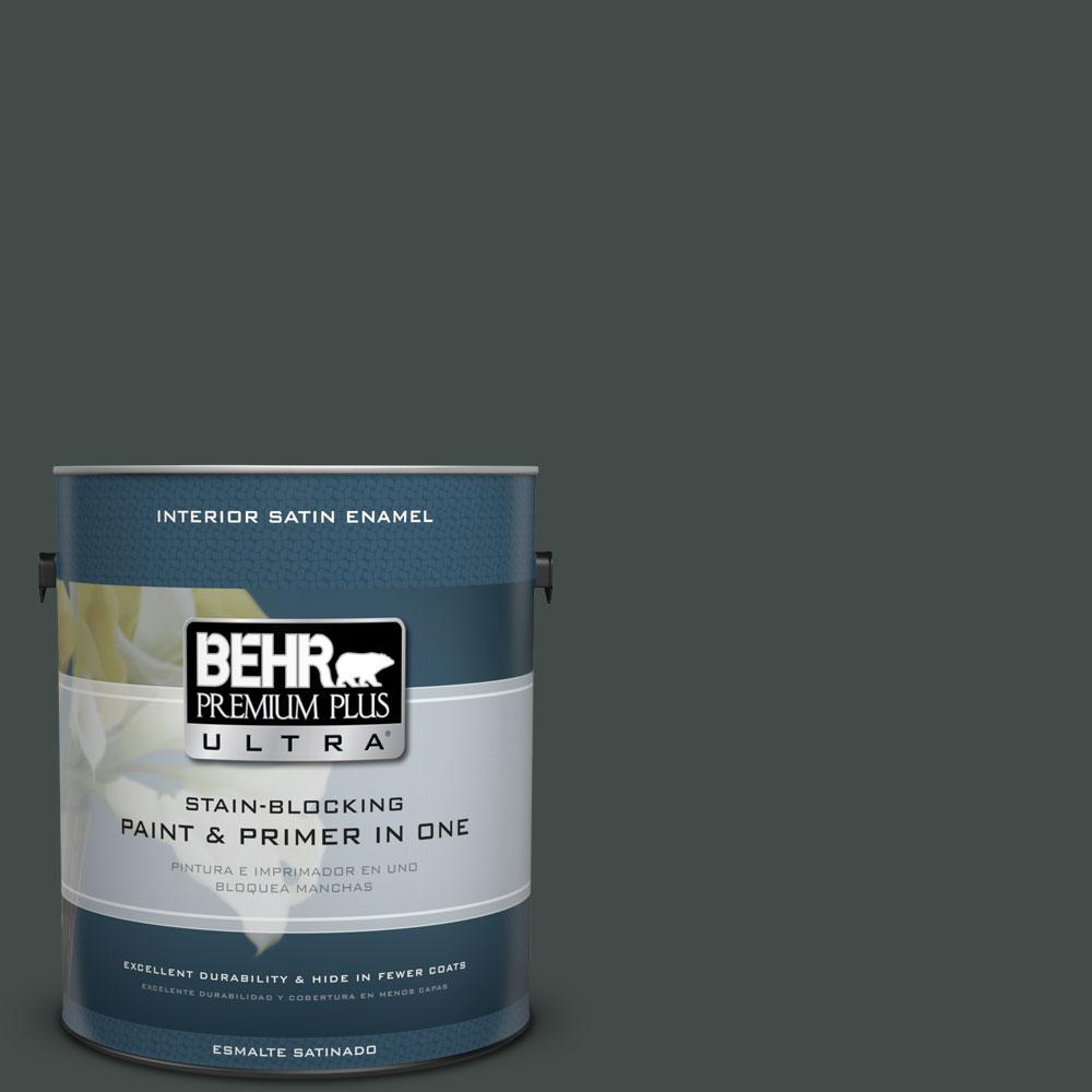 BEHR Premium Plus Ultra Home Decorators Collection 1-gal. #HDC-CL-21 Sporting Green Satin Enamel Interior Paint