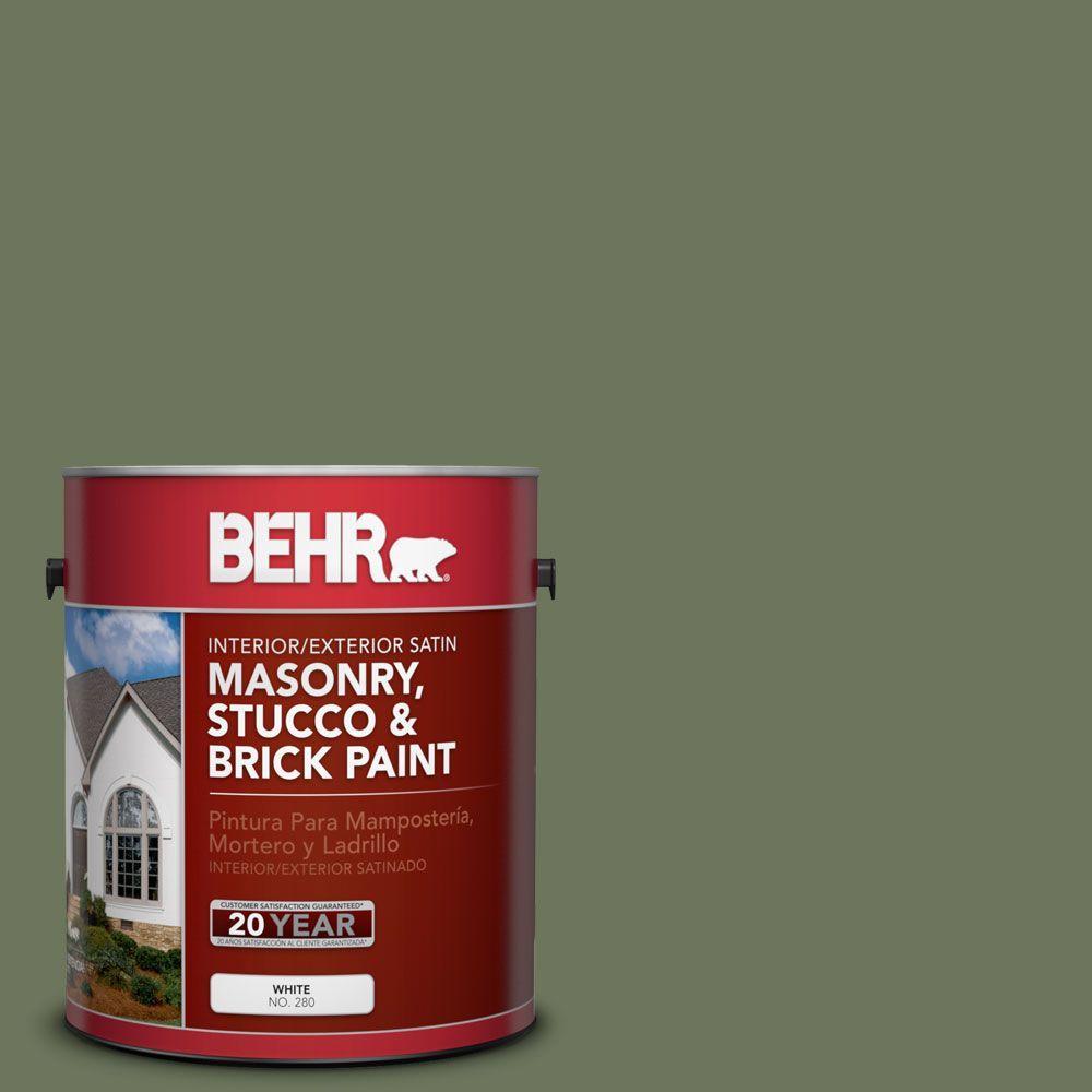 BEHR Premium 1-gal. #MS-54 Frontier Trail Satin Interior/Exterior Masonry, Stucco and Brick Paint