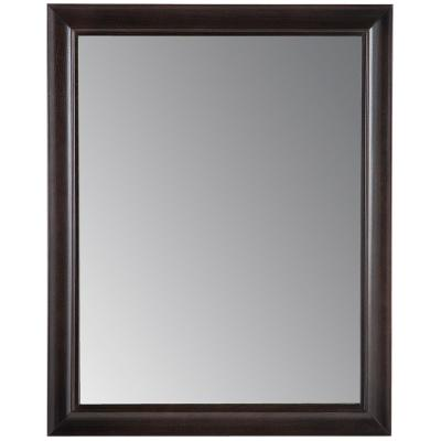 Candlesby 22 in. x 27 in. Framed Wall Mirror in Charcoal