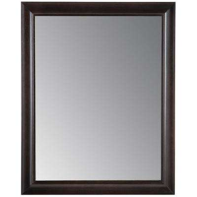 Candlesby 21.85 in. x 27.4 in. Framed Wall Mirror in Charcoal