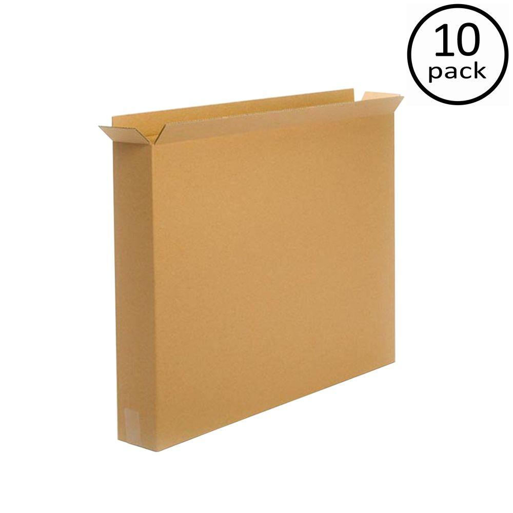 Plain Brown Box 30 in. x 5 in. x 24 in. Moving Box (10-Pack)