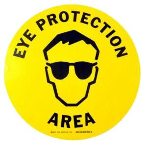 Click here to buy Brady 17 inch Vinyl Eye Protection Area Floor Safety Sign by Brady.