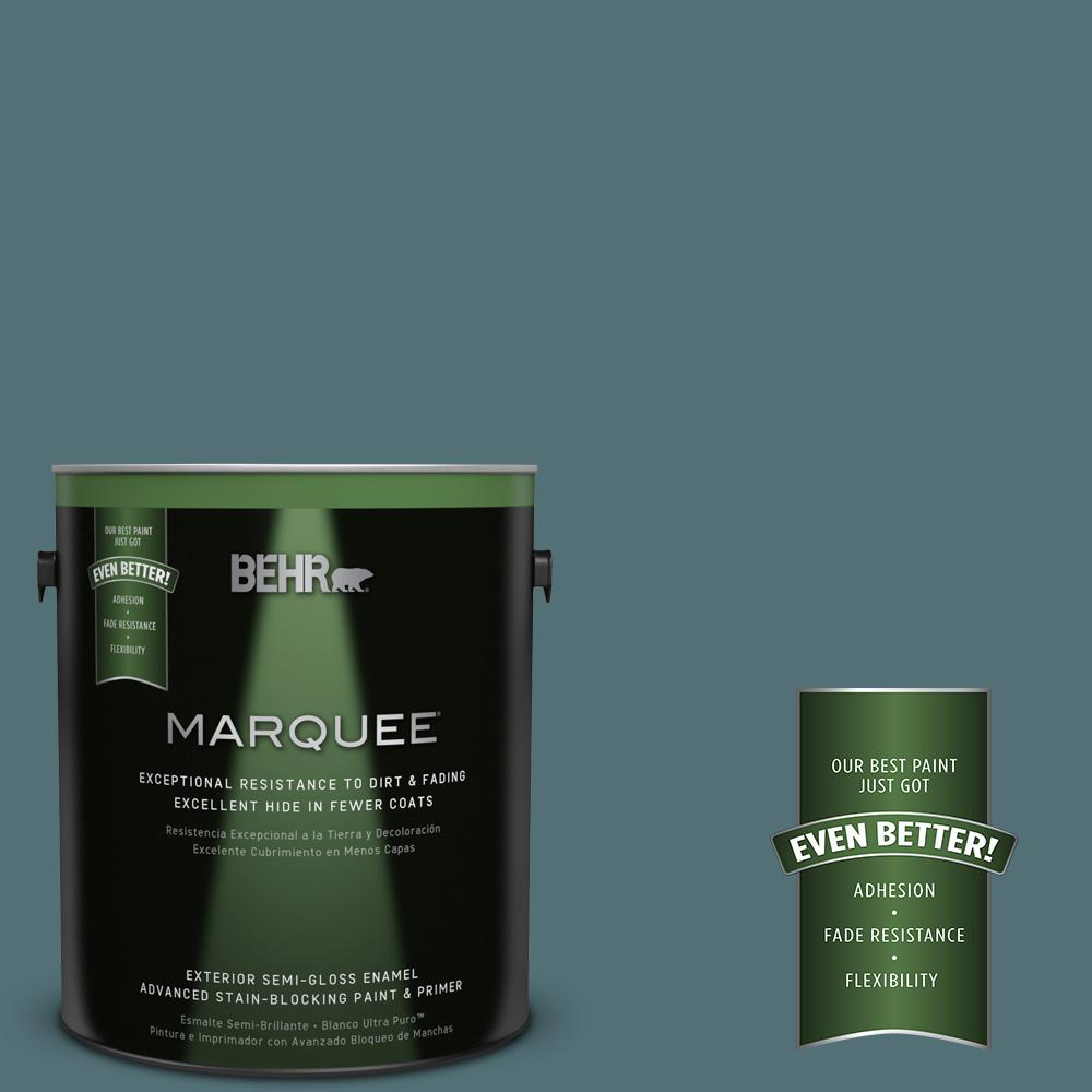 BEHR MARQUEE Home Decorators Collection 1-gal. #HDC-CL-22 Sophisticated Teal Semi-Gloss Enamel Exterior Paint