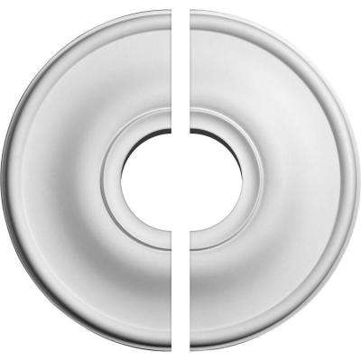 11-3/4 in. O.D. x 3-1/2 in. I.D. x 3/8 in. P Jefferson Ceiling Medallion (2-Piece)
