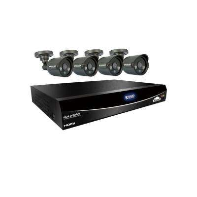 Easy Link QR, 960H, Cloud 8-Channel 500GB HDD Surveillance System with (4) 600 TVL Cameras and 65 ft. Night Vision