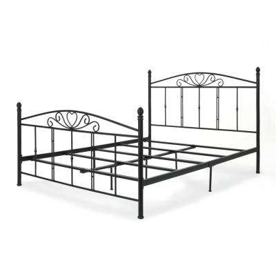 Matte Black Queen Iron Bed Frame