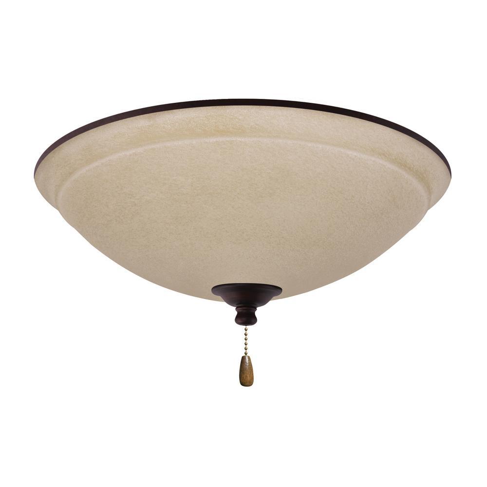 Ashton Wet Amber Mist 3-Light Venetian Bronze Ceiling Fan Light Kit