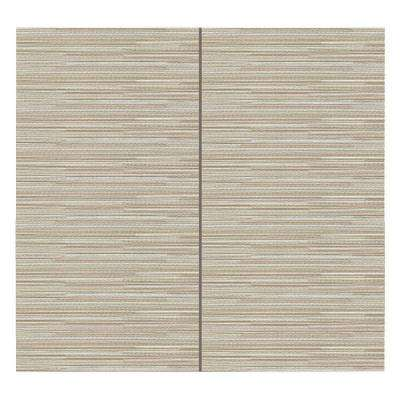 64 sq. ft. Ivory Fabric Covered Full Kit Wall Panel