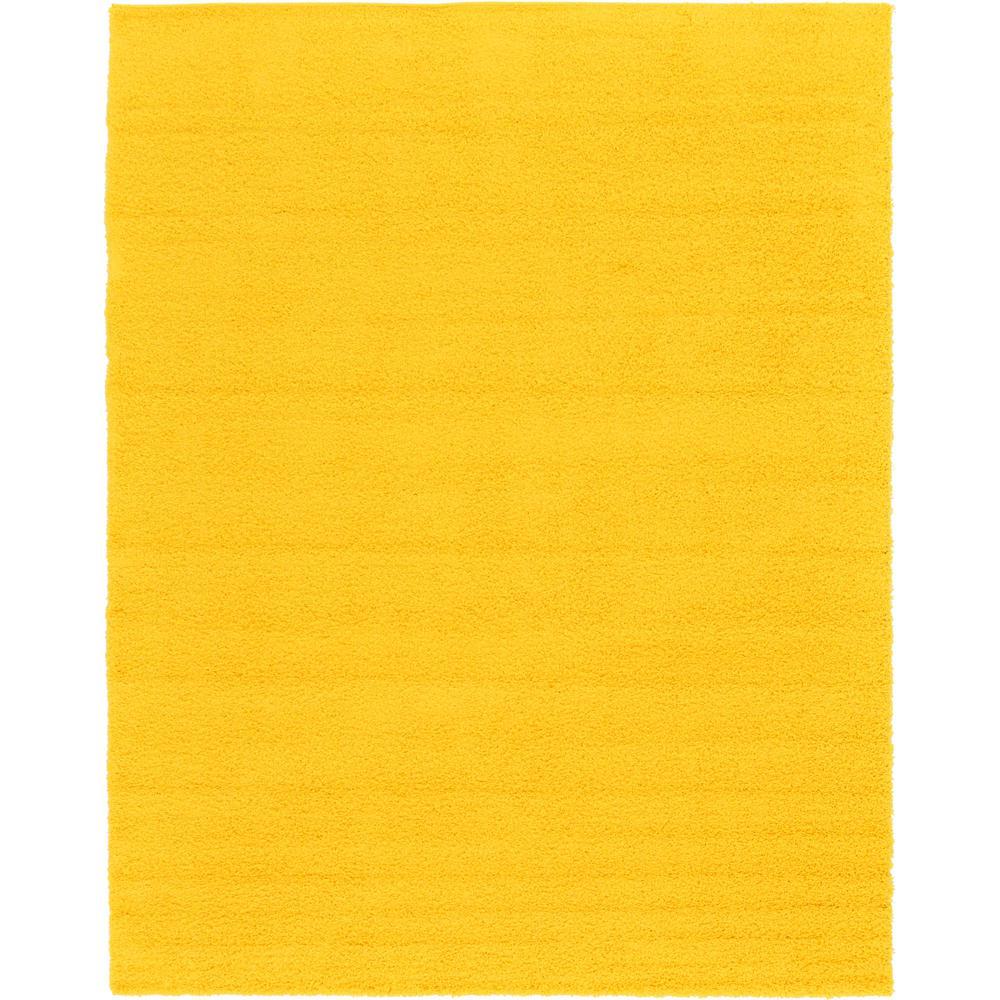 Solid Shag Tuscan Sun Yellow 10 ft. x 13 ft. Area Rug