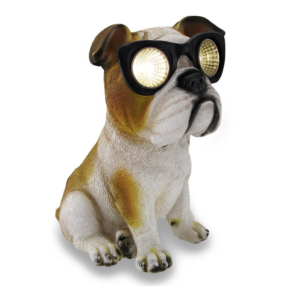 Bulldog Solar Eyes Solar LED Accent Light Sculpture
