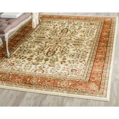 Lyndhurst Ivory Rust 10 Ft X 14 Area Rug