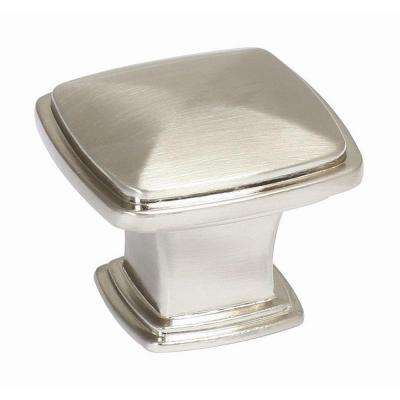 Park Avenue 1-1/4 in. Satin Nickel Cabinet Knob