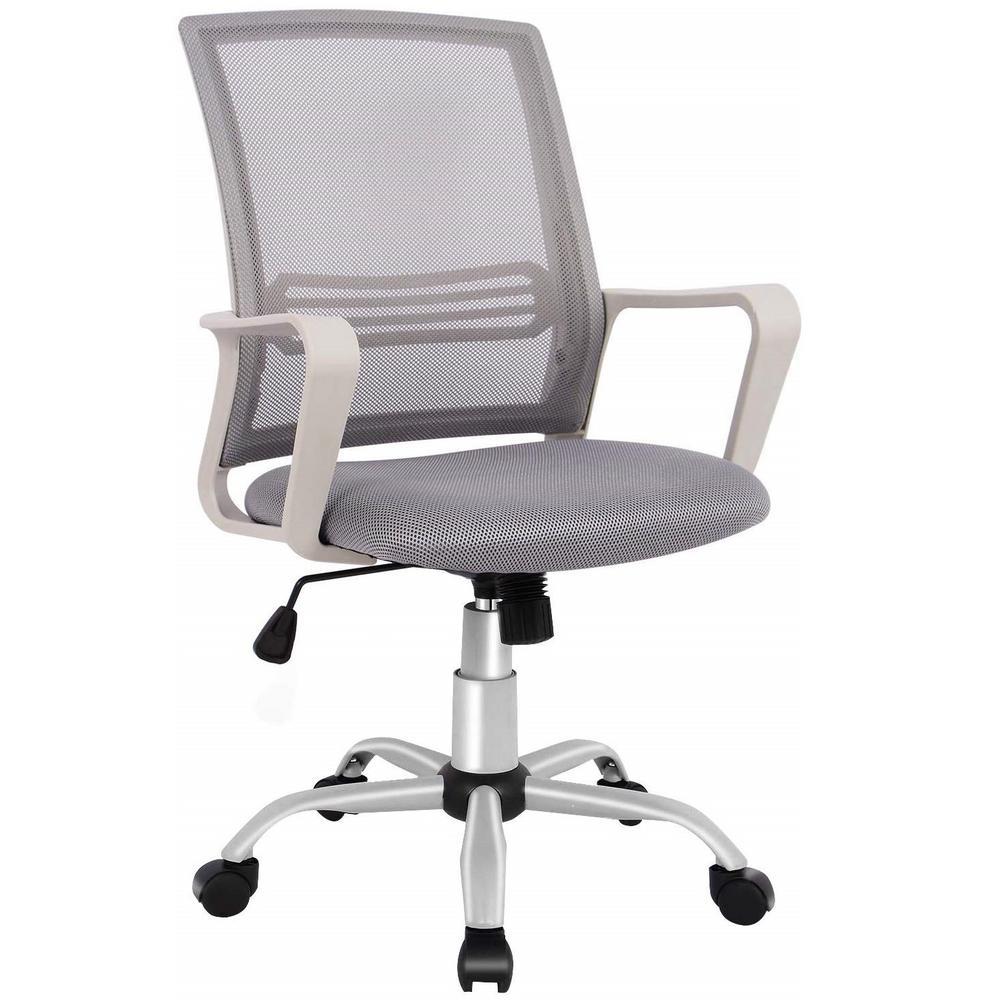 Gray Ergonomic Office Mesh Computer Desk Swivel Task Chair