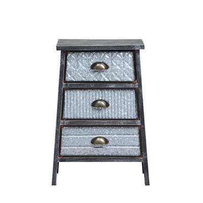 Armata Metal 3-Drawer Chest End Table