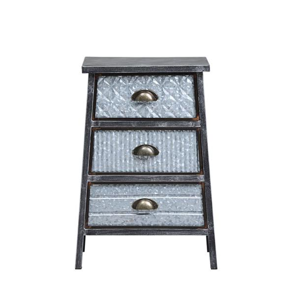4D Concepts Armata Metal 3-Drawer Chest End Table 128017