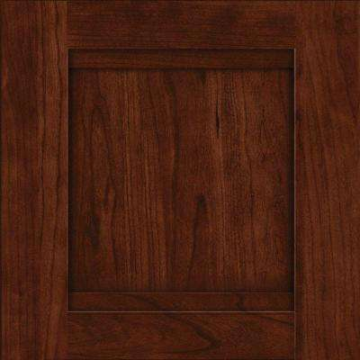 15x15 in. Cabinet Door Sample in Sonora Cherry with Kaffe
