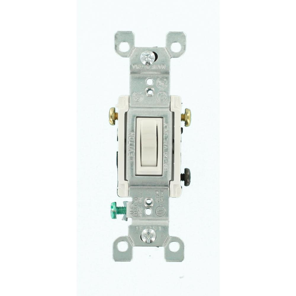 Leviton 15 Amp 3-Way Toggle Switch, White (6-Pack)
