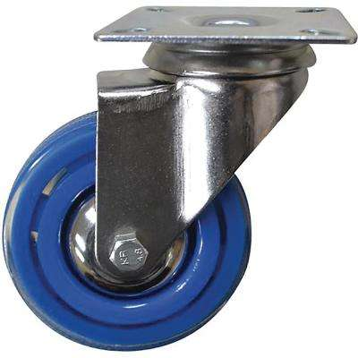 3 in. Sky Blue Swivel Caster with 132 lbs. Load Capacity (4-Pack)