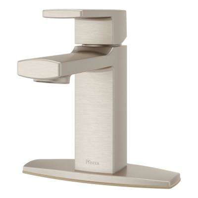 Deckard Single Hole Single-Handle Bathroom Faucet in Brushed Nickel