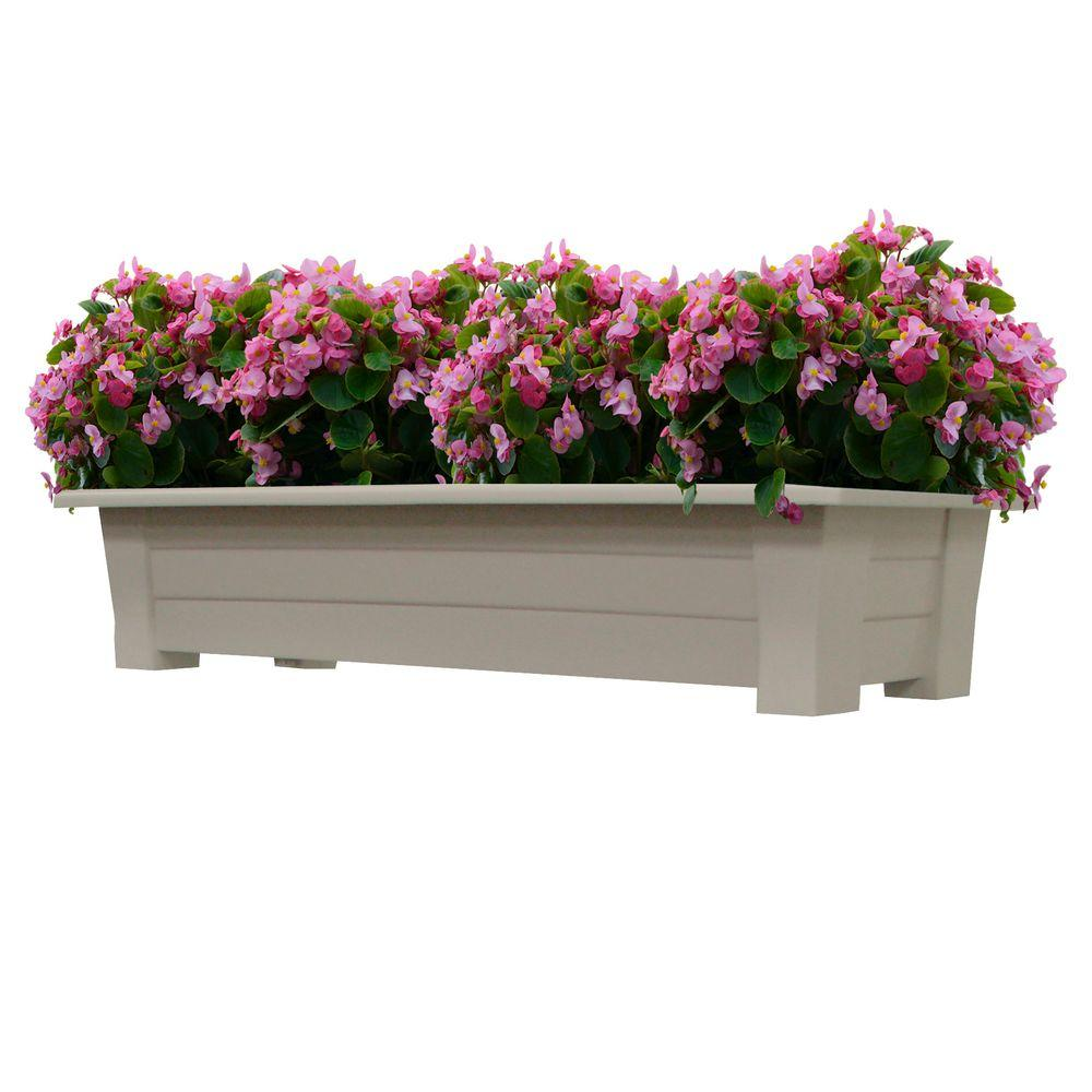 Adams Manufacturing 36 in. x 15 in. Desert Clay Resin Deck Planter