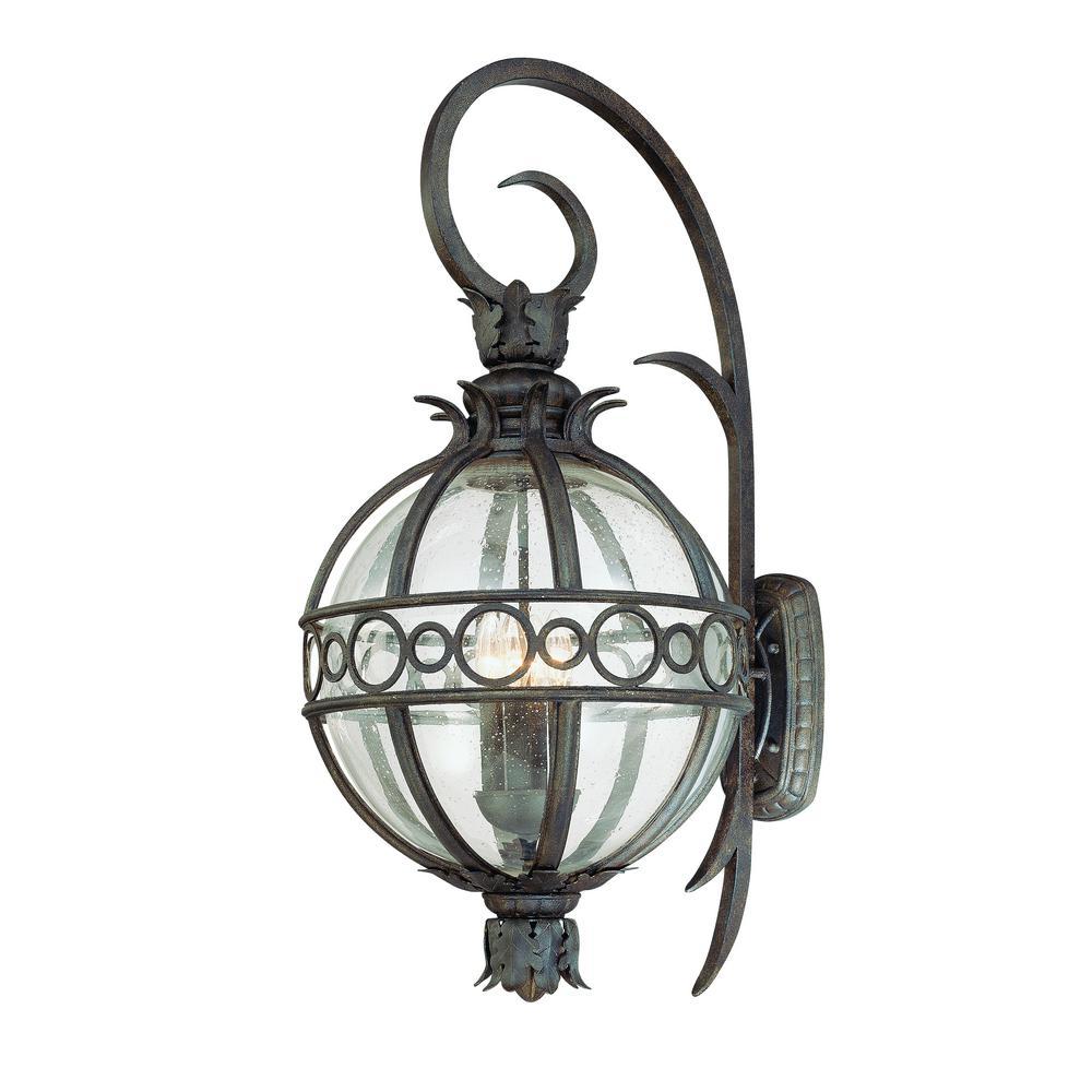 Campanile 4-Light Campanile Bronze Outdoor Wall Mount Lantern