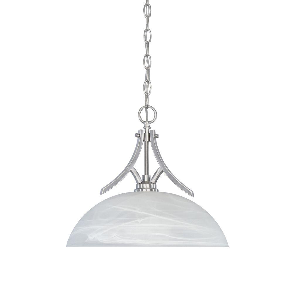 Manhattan 1-Light Satin Platinum Hanging Pendant