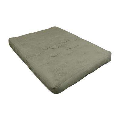 Full 8 in. Foam and Cotton Sage Futon Mattress
