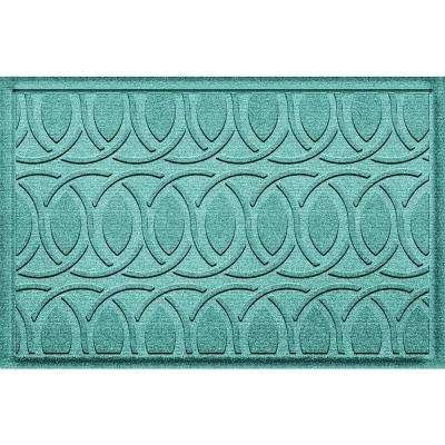 Aldine Aquamarine 23 in. x 36 in. Polypropylene Door Mat