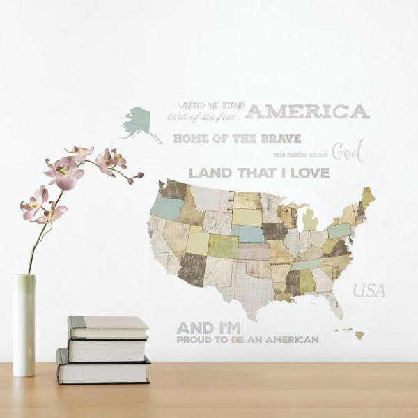 Multi-Colored US Map l and Stick Wall Decals (2-Sheets) on usa map paint, usa map clip, usa map license plate, usa map wall, usa map banner, usa map label, usa map hat, usa map design, usa map wood, usa map vinyl, usa map poster, usa map clock, usa map frame, usa map decor, usa map book, usa map illustration, usa map panel, usa map guide, usa map mural, usa map shirt,