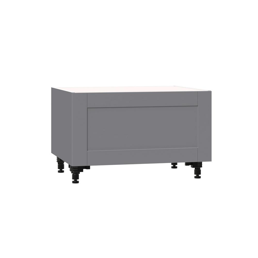 Phenomenal J Collection Shaker Assembled 30 In X 34 5 In X 24 In Base Window Seat Cabinet With Metal Drawer Box In Gray Ibusinesslaw Wood Chair Design Ideas Ibusinesslaworg