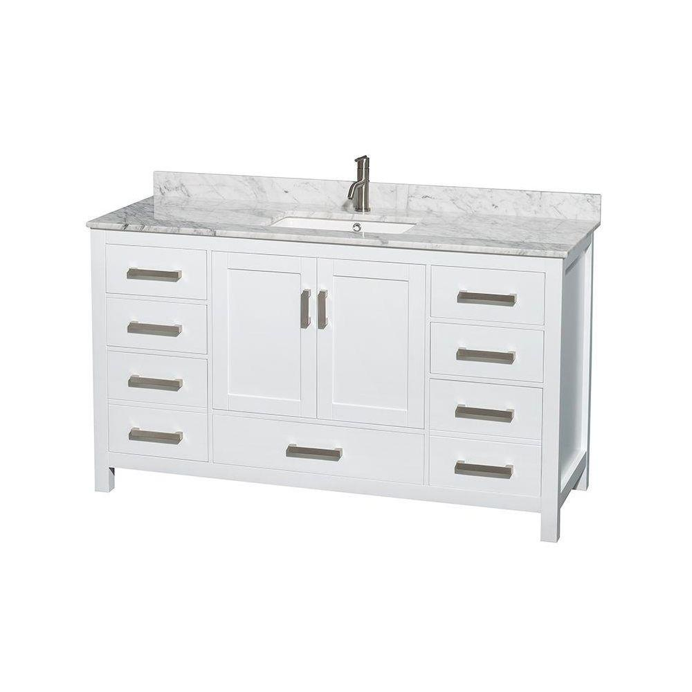 vanities with inches white shipping bathroom shop vanity free in to cream wide inch single sink